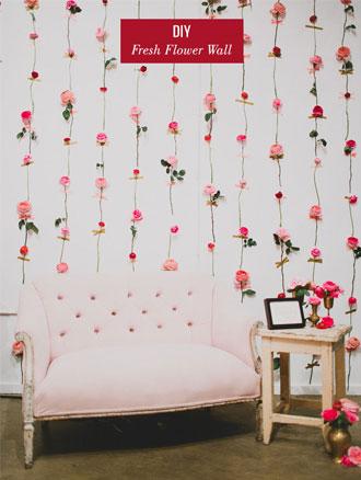 dekorasi kamar tidur: fresh flower diy